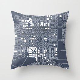 Abstract city plan Throw Pillow