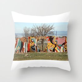 colorful remains Throw Pillow