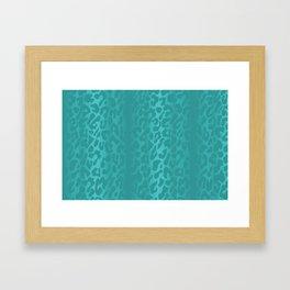 Light Blue Leopard Print Framed Art Print
