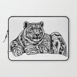 Snow leopard - ink illustration Laptop Sleeve
