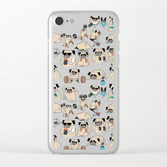 Pugsgym Clear iPhone Case