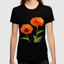 Two beautiful  poppies T-shirt