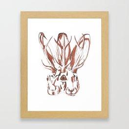 Conjoined Jackalope Framed Art Print