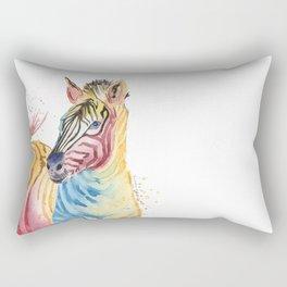 Colorful Zebra Rectangular Pillow