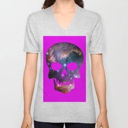Galaxy Skull (Fuscia) Unisex V-Neck