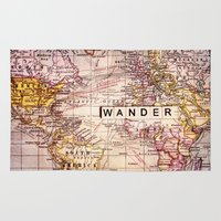not all who wander Area & Throw Rugs featuring wander by Sylvia Cook Photography