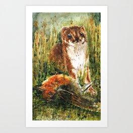 Very little weasel Art Print