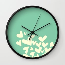 Heart In Hearts. Clouds in the hearts Wall Clock