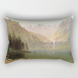 View Of Lake Tahoe Looking Across Emerald Bay 1874 By Thomas Hill | Reproduction Rectangular Pillow