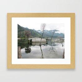 The Underwater Village Framed Art Print