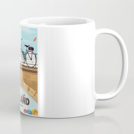 Holland Bicycle travel poster Coffee Mug