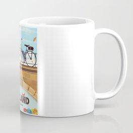 Holland Bicycle travel poster Coffee Mug