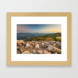 Spruce Knob Mountain Sunset Framed Art Print