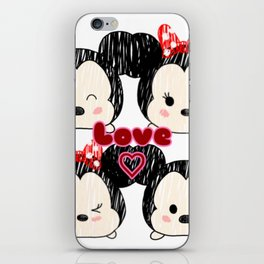 Mickey And Minnie Love Tsums iPhone Skin