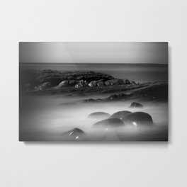 Another Dimension geological formations Bowling Ball Beach Metal Print
