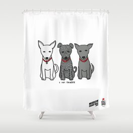 3 Musketeers, I Love Bali Dogs Shower Curtain