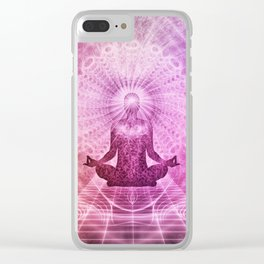 Meditation Zen Clear iPhone Case