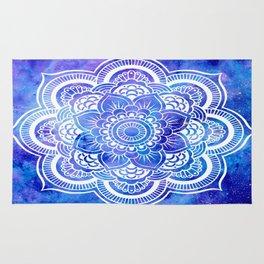 Mandala Blue Lavender Galaxy Rug