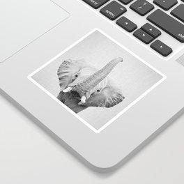 Elephant 2 - Black & White Sticker