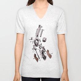 Exploded Gun Unisex V-Neck
