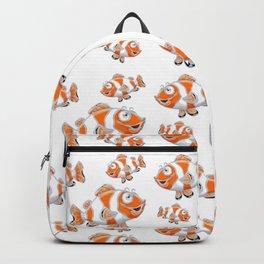 Happy Orange Fish Backpack