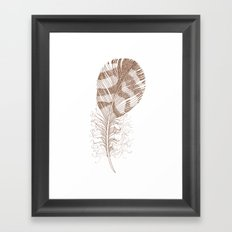 The Solitary Feather Framed Art Print