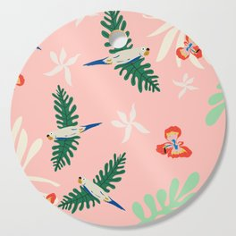 Birds of the Pink Jungle Cutting Board
