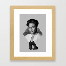 The woman who beat you Framed Art Print