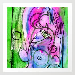 Abstract Nude Goddess No. 40E by Kathy Morton Stanion Art Print