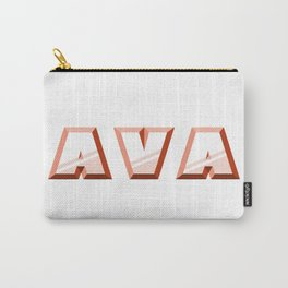 """""""AVA"""" first name red pattern Carry-All Pouch"""