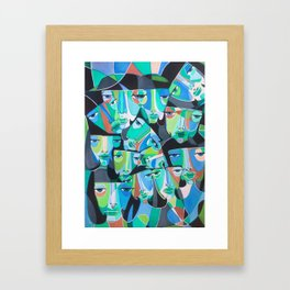 We Fall like Water Framed Art Print