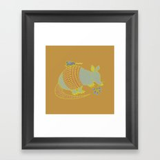 Southwest Armadillo Framed Art Print