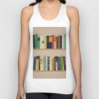 books Tank Tops featuring BOOKS!!! by Matthew Justin Rupp