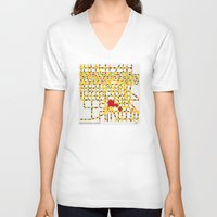 las vegas V-neck T-shirts featuring BOOGIE WOOGIE LAS VEGAS by Chungkong