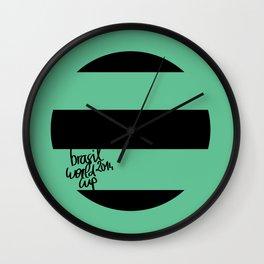 Brazil World Cup 2014 - Poster n°1 Wall Clock