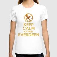 katniss T-shirts featuring KEEP CALM KATNISS EVERDEEN by BomDesignz