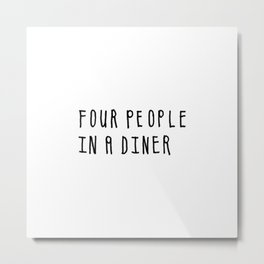 Four People in a Diner Metal Print