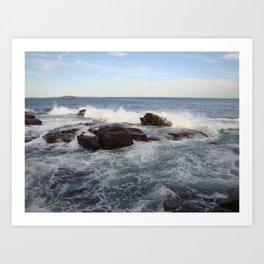 Ocean breaking Art Print