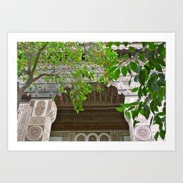 Orange trees at Bahia Palace Art Print