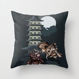 Samurai Hamsters Throw Pillow