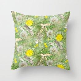 PODS & DANDELIONS WKS Throw Pillow