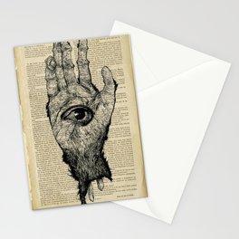 Monkey's Paw Stationery Cards