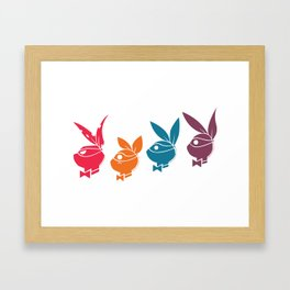 Playboy Turtles Framed Art Print