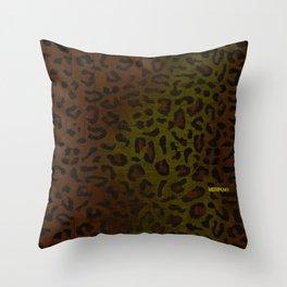 Modern Woodgrain Camouflage / Zaire KDP Print Throw Pillow