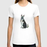 german shepherd T-shirts featuring German Shepherd by Cathy Brear