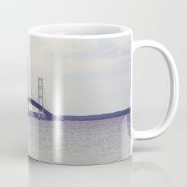 Mackinac suspension bridge at sunset. Coffee Mug