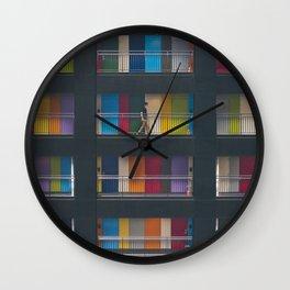 Tokyo Colors Wall Clock