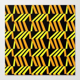 3d asymmetrical yellow and orange boxes Canvas Print