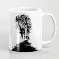 stripe Mugs featuring Stripe Charging by nicebleed