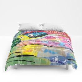 Hippy Fish in Rainbow Glow Comforters